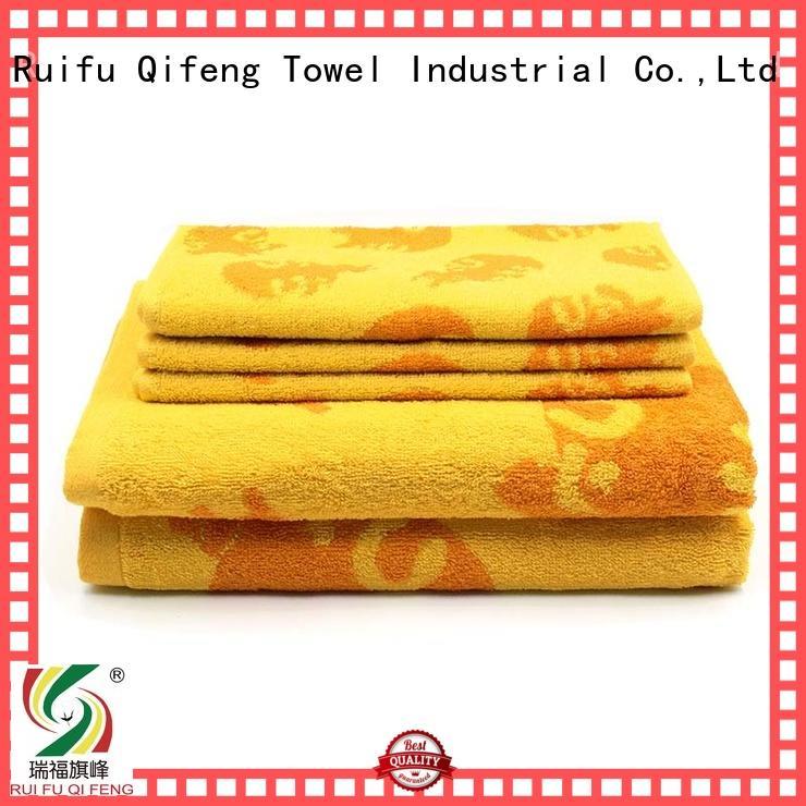 Ruifu Qifeng eco-friendly towel set series factory price for beach