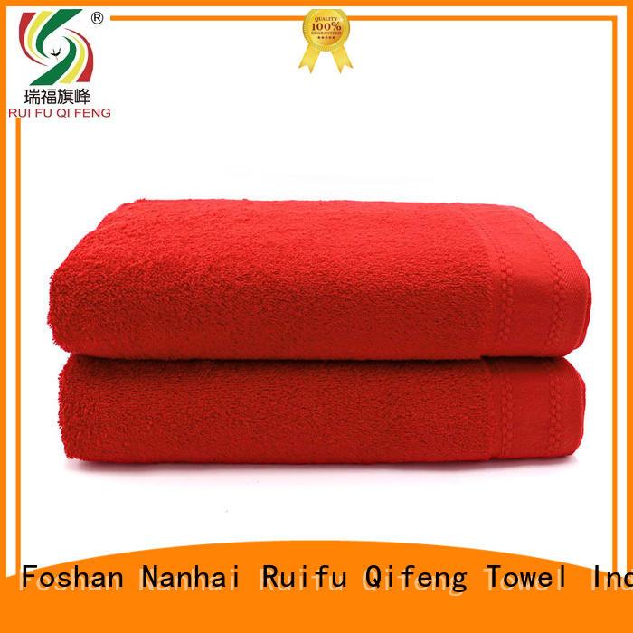 Ruifu Qifeng striped beach towel wholesale for swimming