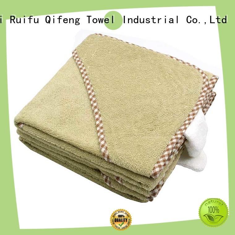 Ruifu Qifeng soft infant bath towels promotion for hotel