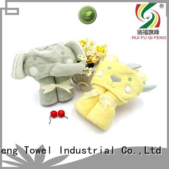 gauze baby hooded bath towel qf022b828 for hospital Ruifu Qifeng