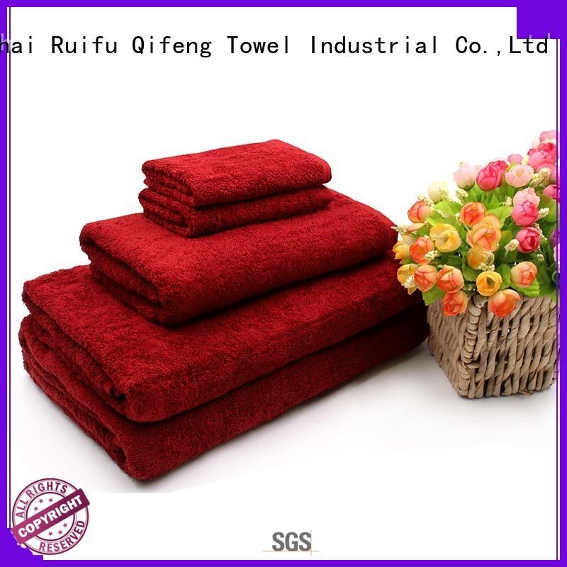 jacquard bath towel set hotel for restaurant Ruifu Qifeng