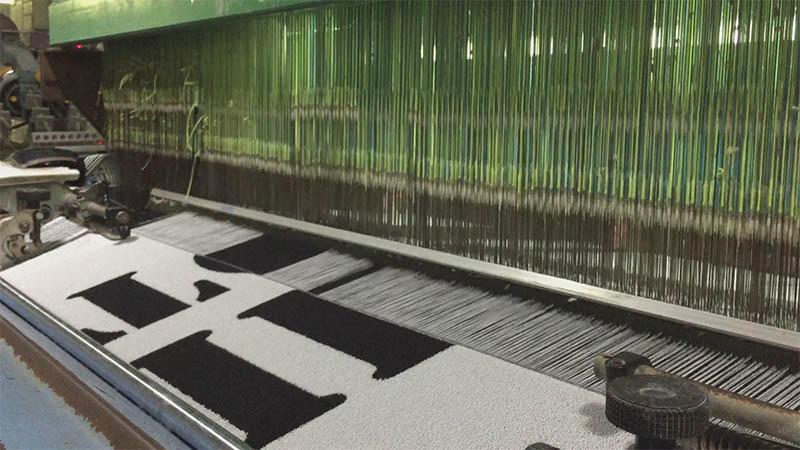 Weaving jacquard towel with letter.(3)