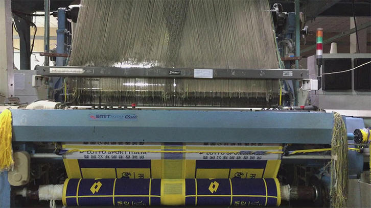 Weaving jacquard towel with client's logo