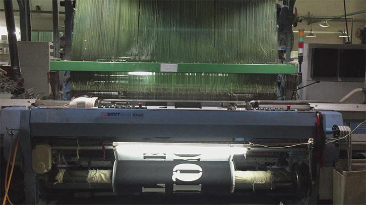 Weaving jacquard towel with letter.(1)