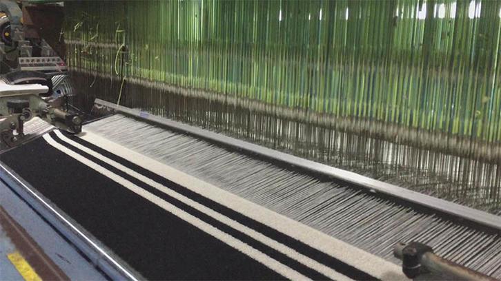 Weaving stripe towel (narrow stripe)