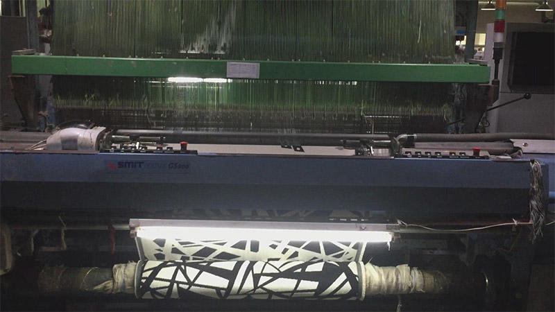 Weaving jacquard towel with pattern