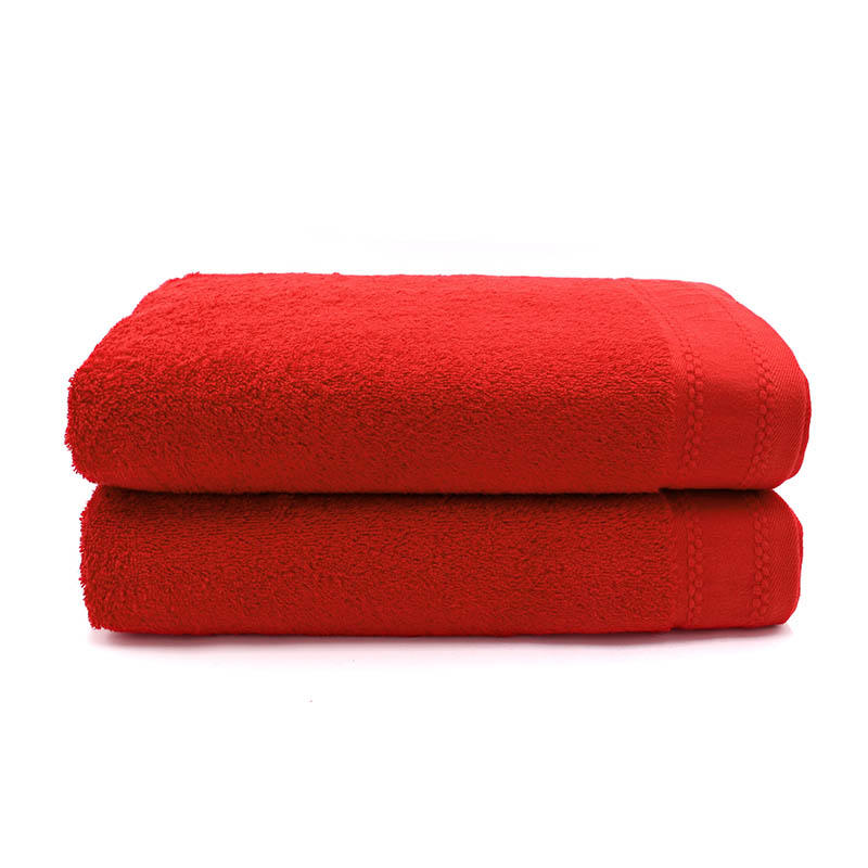 100% Cotton Plain Dyed Terry Beach Towel - QF-001(D1180)