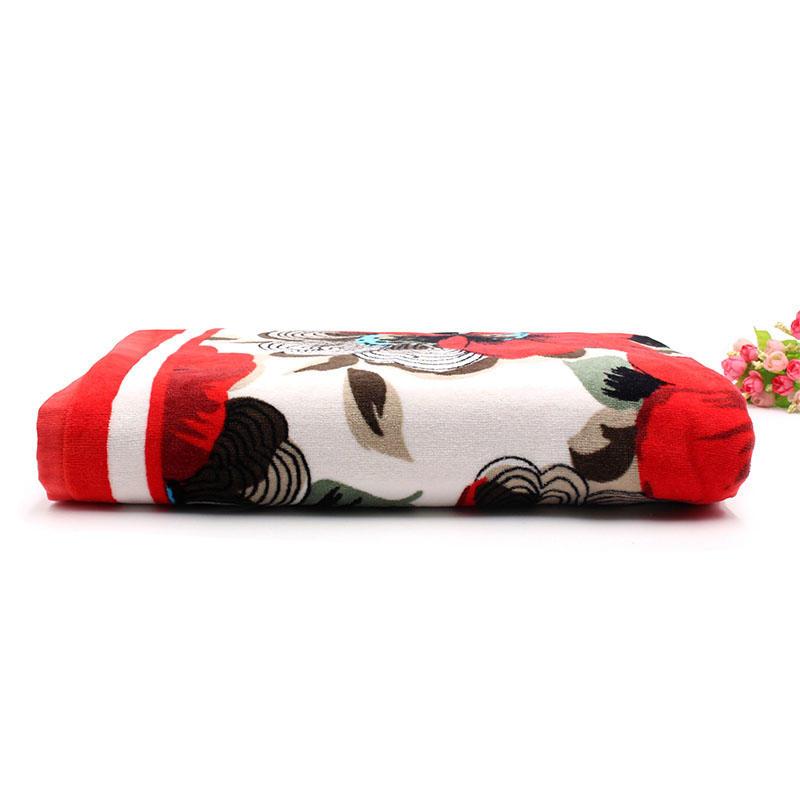 100% Cotton Velour Printing Beach Towel - QF-003(D885)
