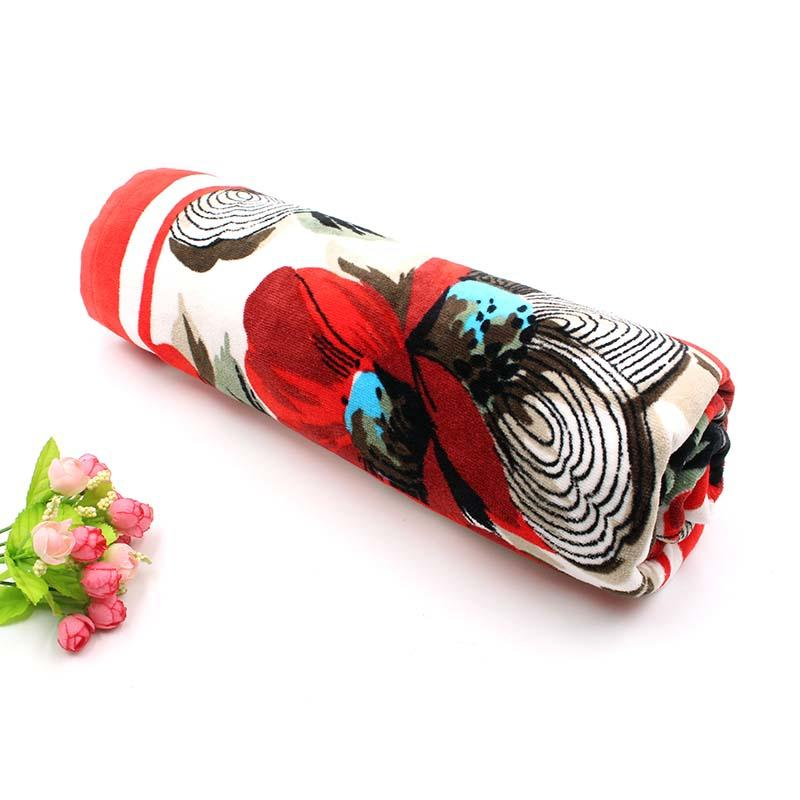 100% Cotton Velour Printing Beach Towel - QF-003(D885)