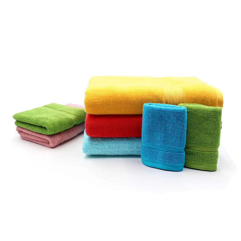 Various Colors Cotton  Towel Set In High GSM