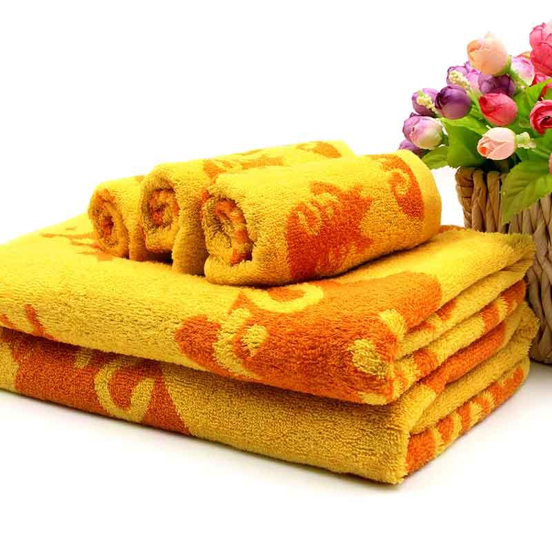 Cotton Customized Jacquard Bath Towel Set
