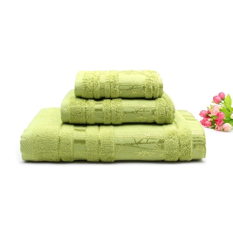 Organic Customized Logo Bamboo towel set
