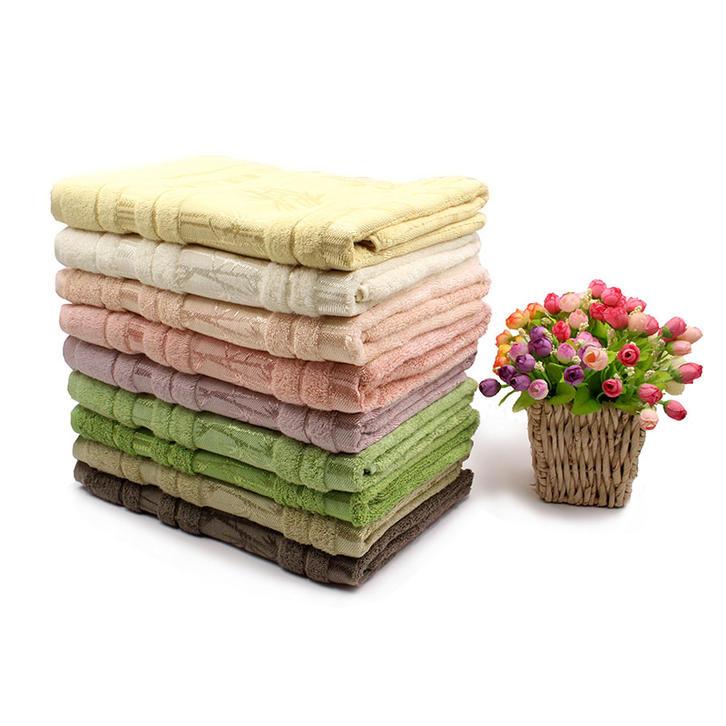 Bamboo Fiber Plain Dyed Towel