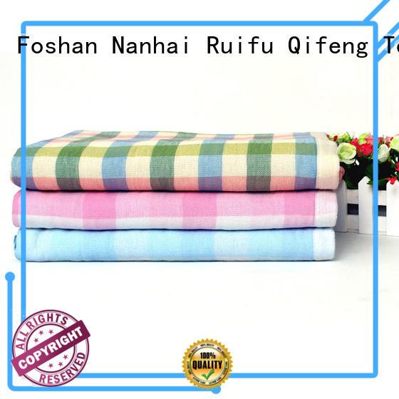 Ruifu Qifeng professional bamboo baby towel manufacturer for kindergarden