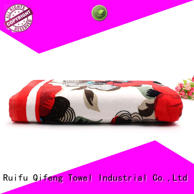 Ruifu Qifeng towel thick beach towels wholesale for swimming