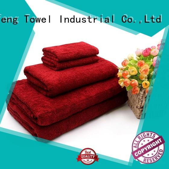 Ruifu Qifeng jacquard bamboo towel set factory price for restaurant