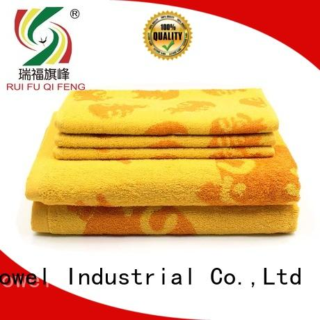 Ruifu Qifeng cotton bathroom towel sets factory price for restaurant