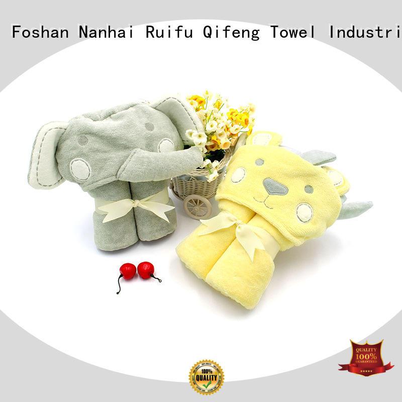Ruifu Qifeng toddler baby hooded towel online for kindergarden