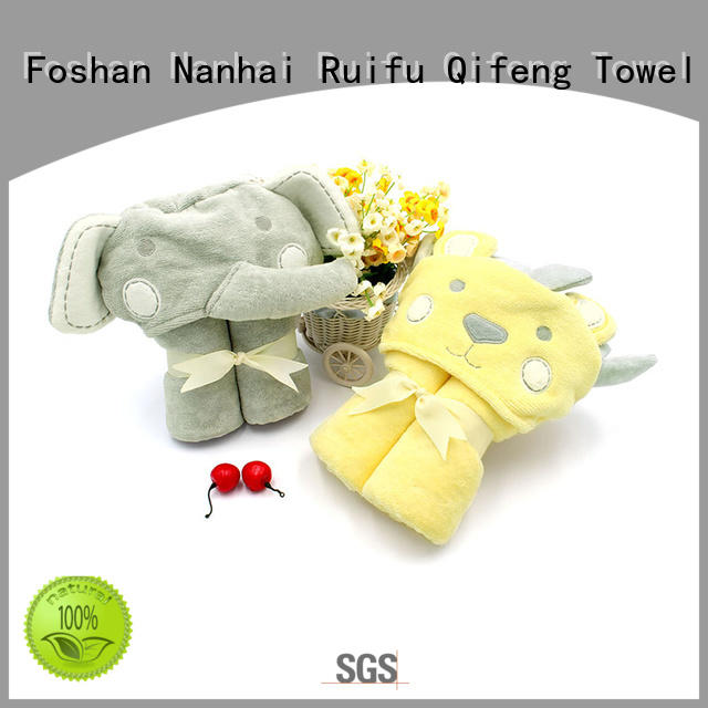 Ruifu Qifeng kids bamboo baby hooded towel promotion for hospital
