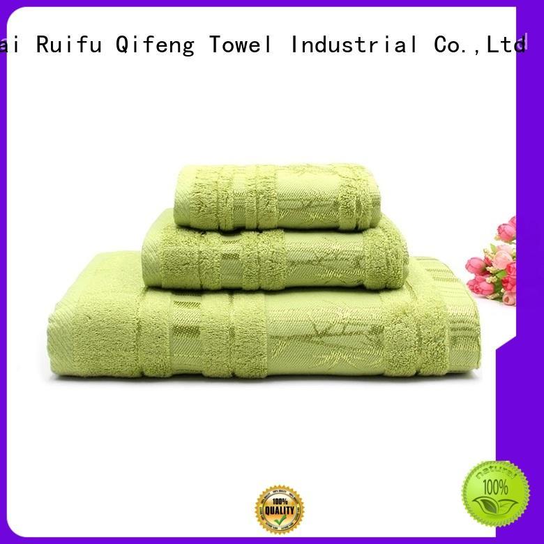 Ruifu Qifeng good quality luxury towel set printed for club