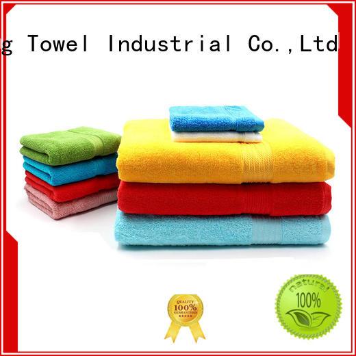 organic bathroom towel sets gsm for hospital Ruifu Qifeng