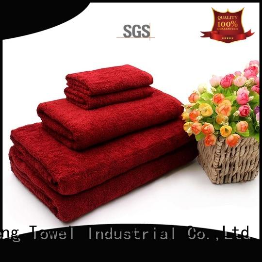 monogrammed customized towel set bath factory price for club