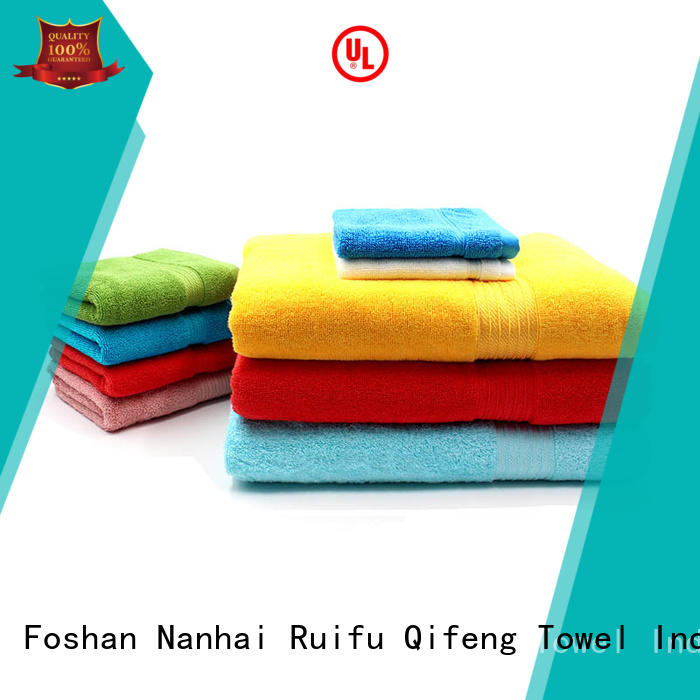 soft bamboo towel set logo factory price for club