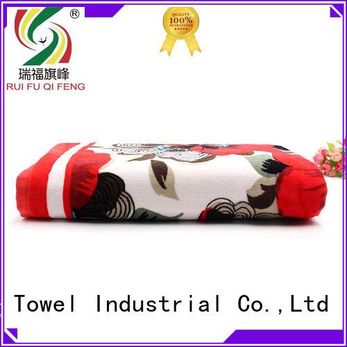 Ruifu Qifeng large beach towels wholesale for pool
