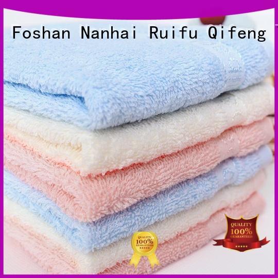 Ruifu Qifeng safe baby hooded bath towel manufacturer for kindergarden
