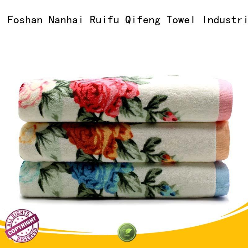 Ruifu Qifeng monogrammed bath towel sets on sale for beach