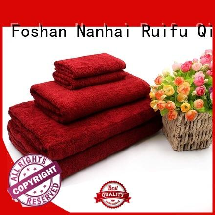 customized towel set logo for hotel Ruifu Qifeng