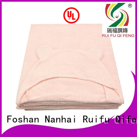 Ruifu Qifeng cotton baby poncho towel design for kindergarden