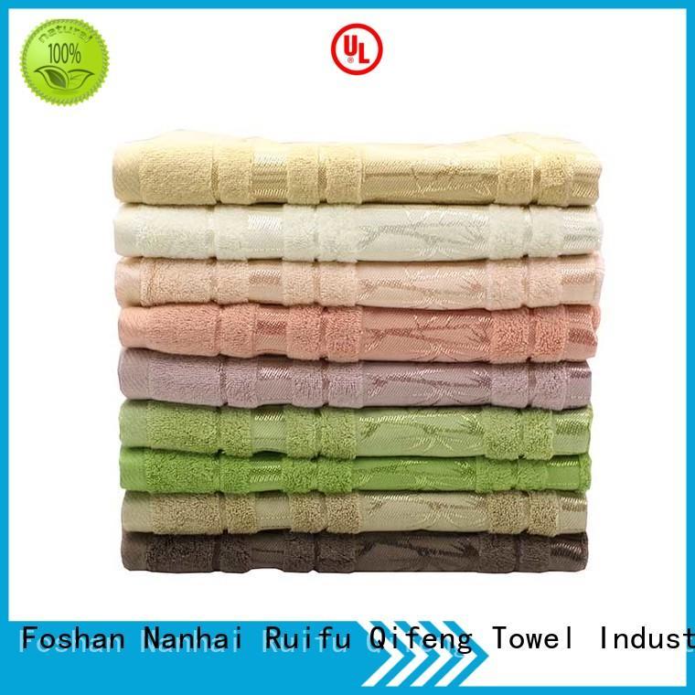 Ruifu Qifeng soft best quality bath towels supplier for hotel