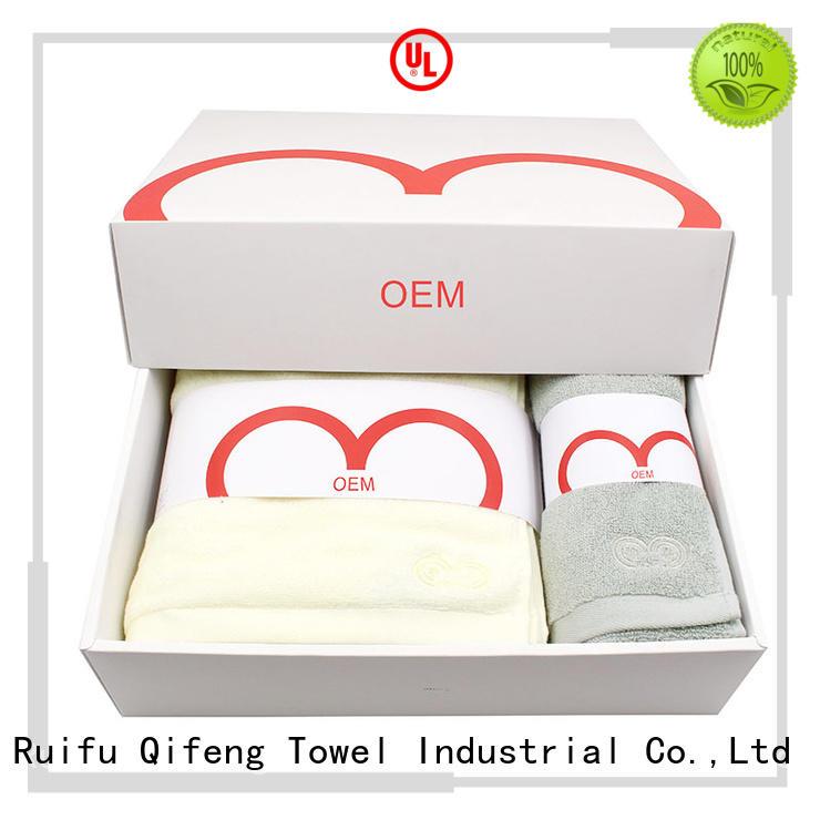 Ruifu Qifeng customized zero twist towels sets for hotel