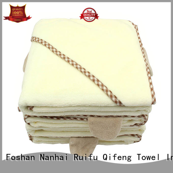 Ruifu Qifeng poncho baby hooded bath towel supplier for hotel