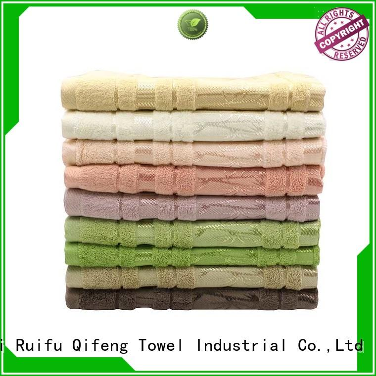 hand best quality bath towels qf005d1116 supplier for hotel