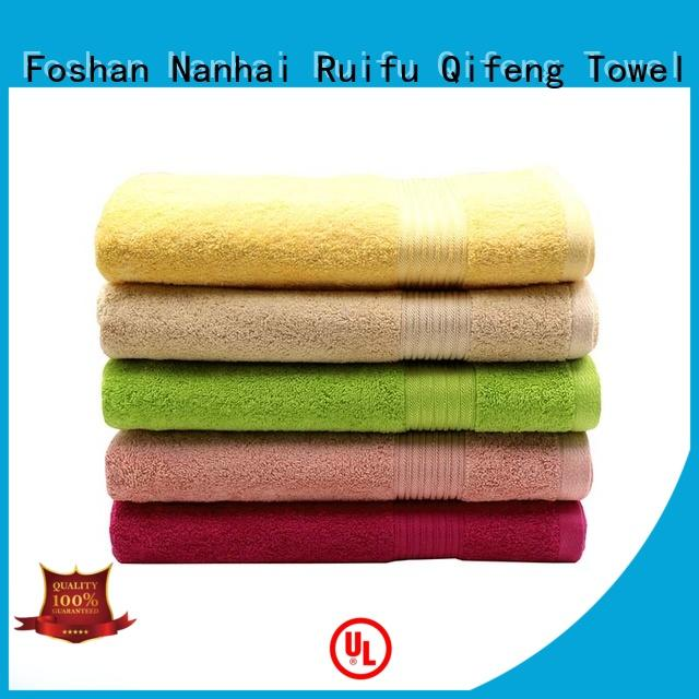 Ruifu Qifeng customized big beach towels dobby for swimming