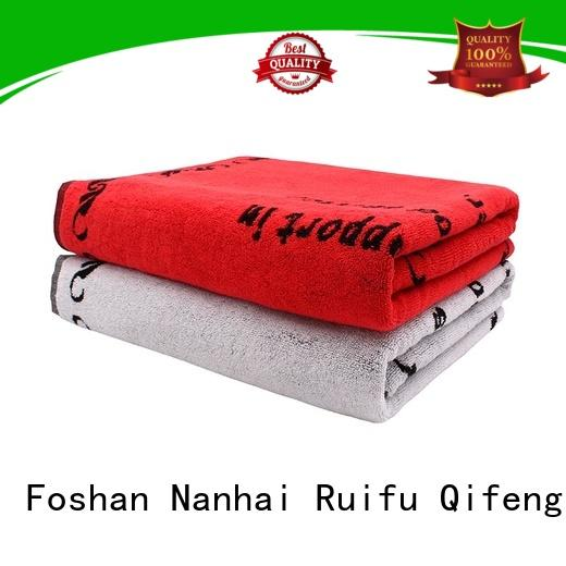 Ruifu Qifeng yarned personalized beach towels promotion for pool