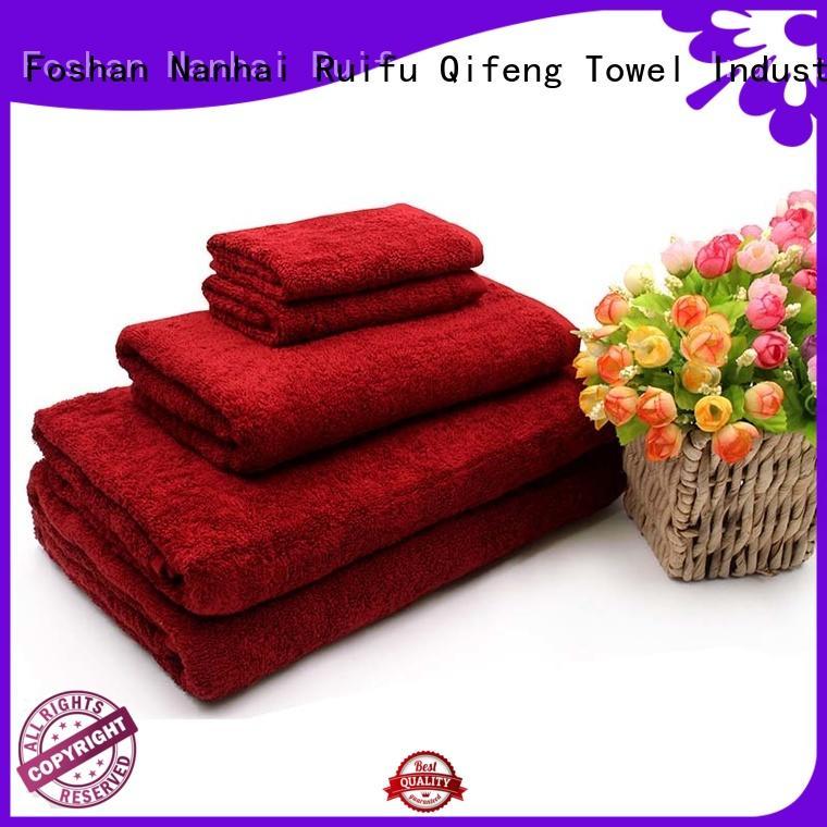 Ruifu Qifeng hotel cotton towel set supplier for hotel