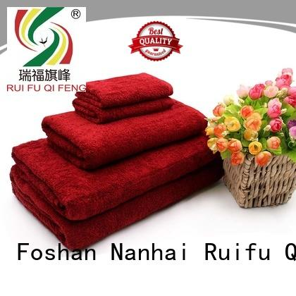Ruifu Qifeng various bamboo towel set on sale for hotel