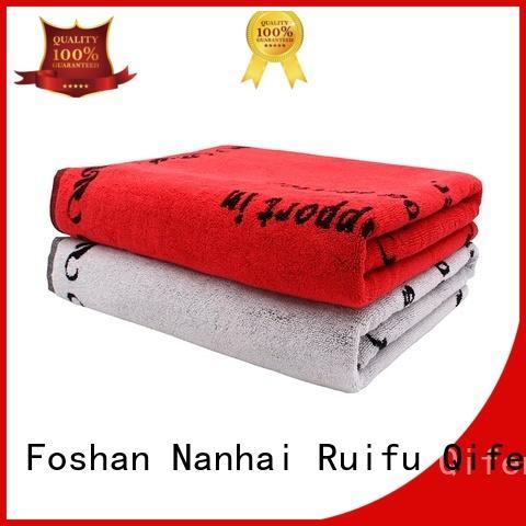 Ruifu Qifeng yarned custom beach towels promotion for swimming