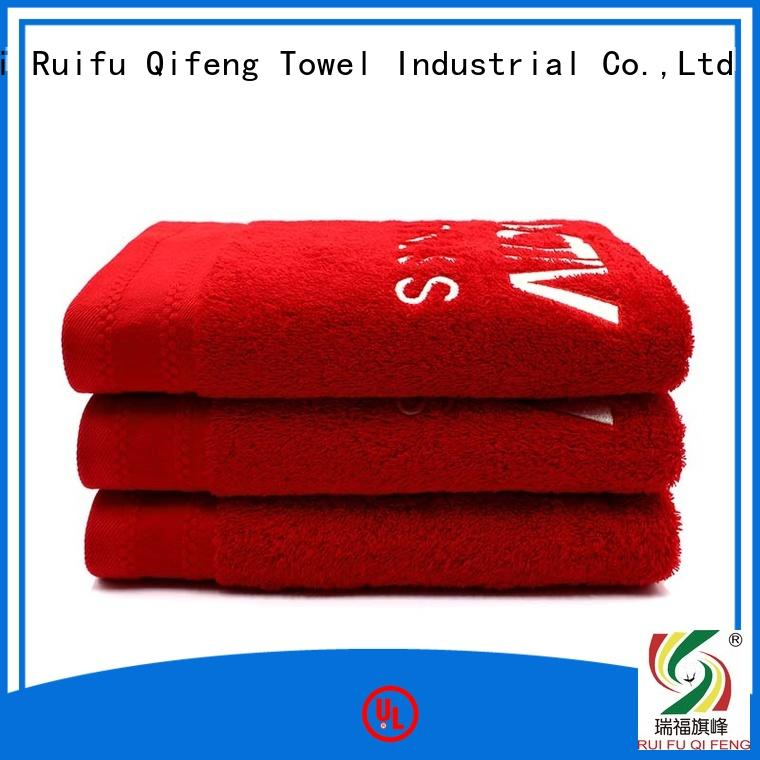 qf005d1116 large bath towels factory price for hotel Ruifu Qifeng