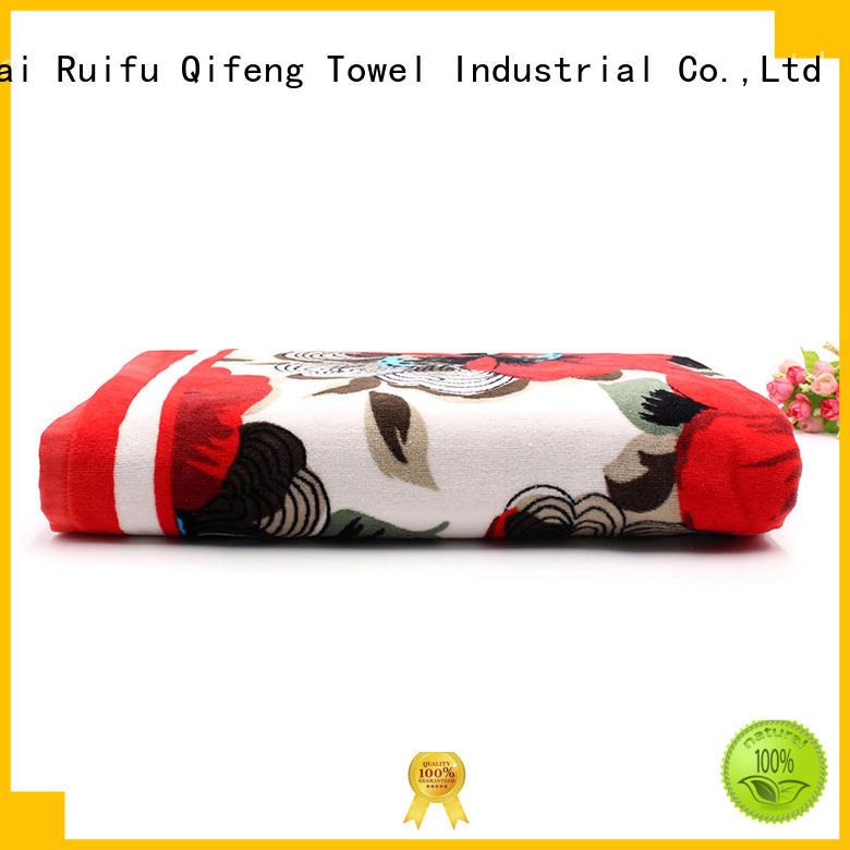 Ruifu Qifeng multi function custom beach towels directly price for beach