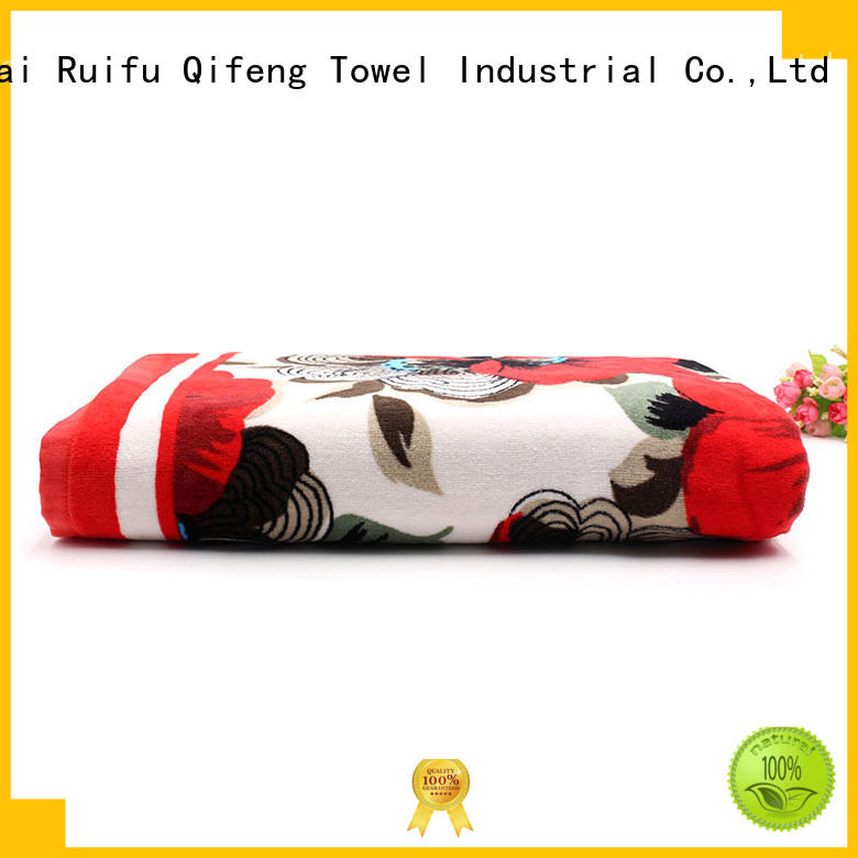 Ruifu Qifeng multi function custom beach towels directly price for beach