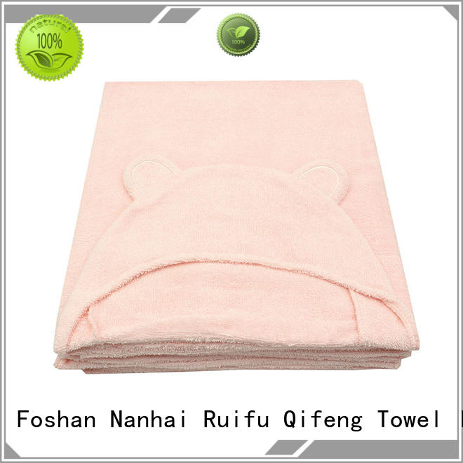 professional organic bamboo baby towels design for hospital Ruifu Qifeng
