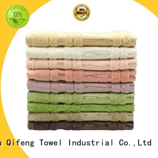 Ruifu Qifeng hand striped bath towels qf007 for hospital