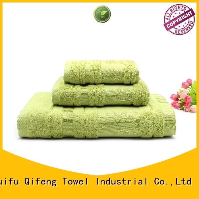 eco-friendly customized towel set bamboo factory price for club