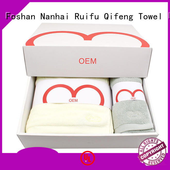 Ruifu Qifeng luxury terry towel manufacturers sets for beach