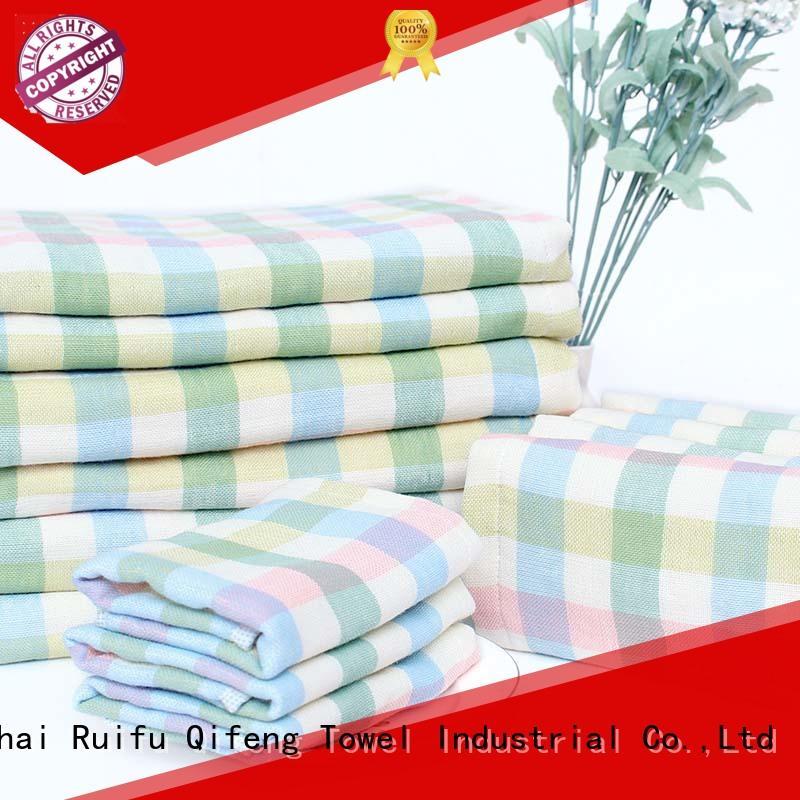 Ruifu Qifeng qf010f457 bamboo baby hooded towel manufacturer for hotel