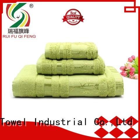 Ruifu Qifeng cotton bath towel sets factory price for hospital